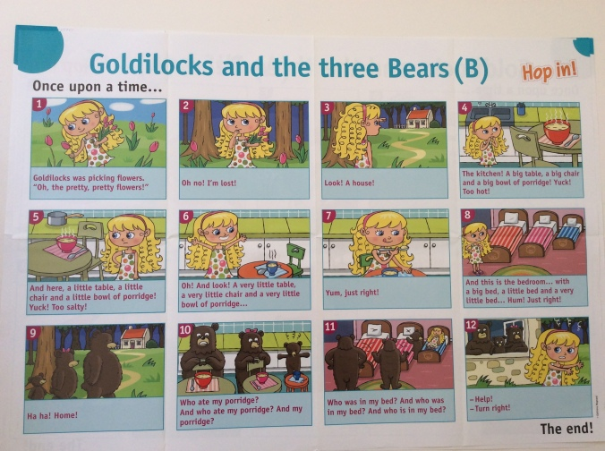 gOLDILOCKS AND THE THREE BEARS HOP IN